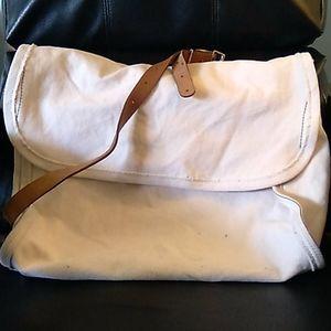 J Crew Large Canvas Messenger Bag